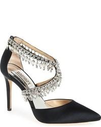 Badgley Mischka Glamorous Crystal Embellished Pointy Toe Pump