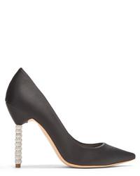 Sophia Webster Coco Crystal Embellished Heel Satin Pumps