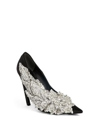 Balenciaga Embellished Pointy Toe Pump