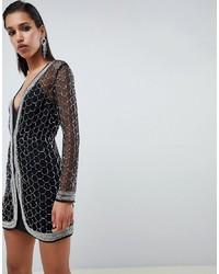 ASOS DESIGN Embellished Sequin Robe Mini Dress