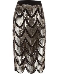 Givenchy Sequin Embellished Pencil Skirt