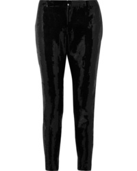 Saint Laurent Sequined Crepe Skinny Pants