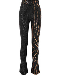 Halpern Sequined Tulle Slim Leg Pants