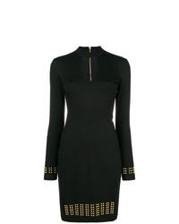 Versace Jeans Studded Long Sleeve Dress