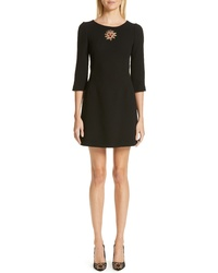 Dolce & Gabbana Heart Embellished Crepe Dress