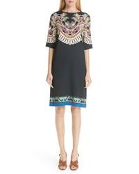 Etro Print Cady Dress