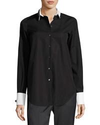 No.21 No 21 Cordova Button Front Embellished Shirt