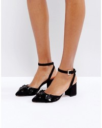 Ted Baker Odesca Black Embellished Mid Heeled Shoes