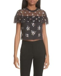Needle & Thread Sequin Crop Top