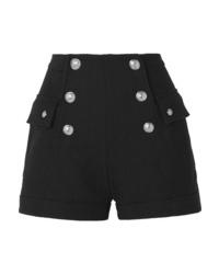 Balmain Button Embellished Cotton Shorts
