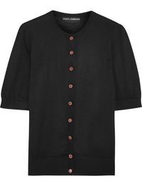 Dolce & Gabbana Embellished Silk And Cashmere Blend Cardigan Black