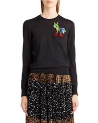 Dolce & Gabbana Dolcegabbana Embellished Silk Sweater