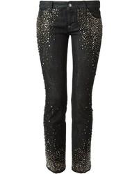 Black Embellished Skinny Jeans