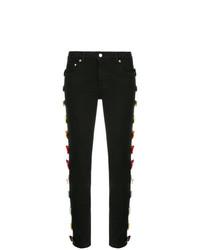 Tu Es Mon Trésor Bow Embellished Skinny Jeans