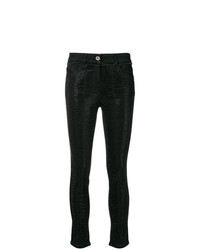 Patrizia Pepe Crystal Embellished Skinny Jeans