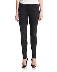 J Brand Maria Studded High Rise Skinny Jeans