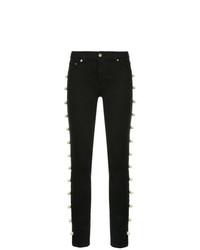 Tu Es Mon Trésor Side Embellished Skinny Jeans