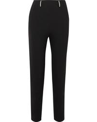 Christopher Kane Crystal Embellished Twill Slim Leg Pants