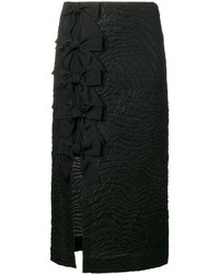 Fendi Bow Embellished Cloqu Midi Skirt
