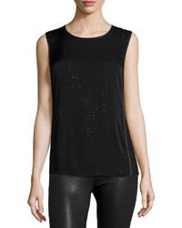 Heritage sleeveless embellished top black medium 736391