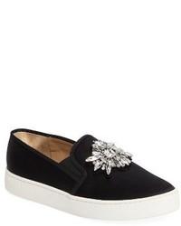 Barre crystal embellished slip on sneaker medium 4107260