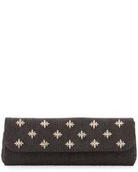 Badgley Mischka Florentine Embellished Evening Clutch Bag Black