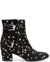 Laurence Dacade Babacar Embellished Suede Ankle Boots Black