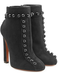 Alaia Embellished Suede Ankle Boots