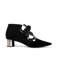 Proenza Schouler Eyelet Embellished Suede Ankle Boots
