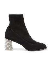 Sophia Webster Felicity Embellished Suede Sock Boots