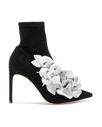 Sophia Webster Jumbo Lilico Leather Appliqud Suede Ankle Boots