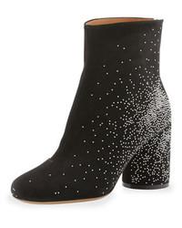 Maison Martin Margiela Suede Sparkle Ankle Boots Black