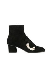 Proenza Schouler Metal Ornat Ankle Boots