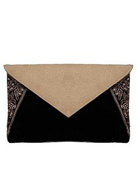 Maati Suede Flap Envelope Clutch