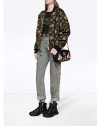 $1,642, Gucci Gg Marmont Velvet Small Shoulder Bag