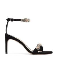 Sophia Webster Aaliyah Crystal Embellished Suede Sandals