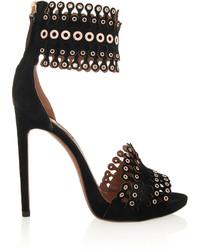 Alaia Alaa Embellished Suede Sandals