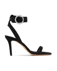 Isabel Marant Alapee Crystal Embellished Suede Sandals