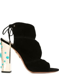 Aquazzura Embellished Heel Sandals