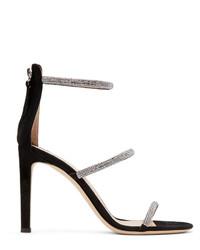 Giuseppe Zanotti Black Kanda Sparkle Heels