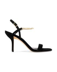 Diane von Furstenberg Frankie Embellished Suede Sandals