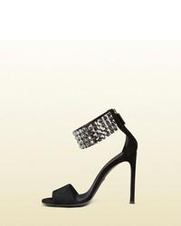f7232af9c55 ... Gucci Mallory Crystal Embellished Suede Sandal ...