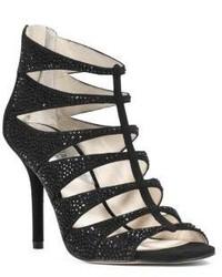 MICHAEL Michael Kors Michl Michl Kors Mavis Open Toe Embellished Suede Sandal