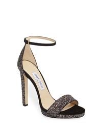 Jimmy Choo Misty Glitter Platform Sandal