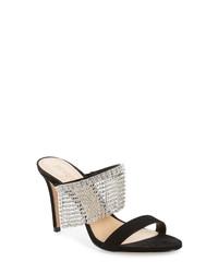 Schutz Sania Crystal Fringe Sllide Sandal