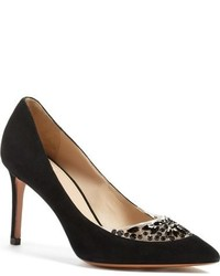 Tory Burch Delphine Embellished Pointy Toe Pump