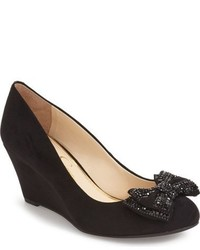 Jessica Simpson Selonia Crystal Embellished Wedge Pump