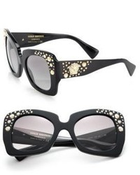 Versace 54mm Embellished Acetate Metal Butterfly Sunglasses