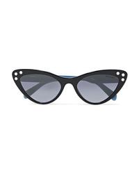 Miu Miu Cat Eye Crystal Embellished Acetate Sunglasses