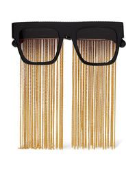Stella McCartney Chain Embellished D Frame Acetate Sunglasses
